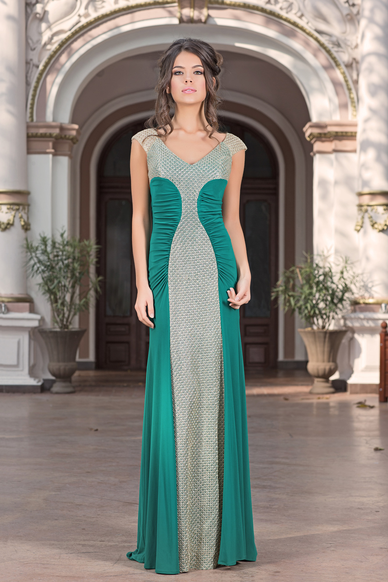 Green Evening Dress | Adeona | Vero Milano Fashion Shop